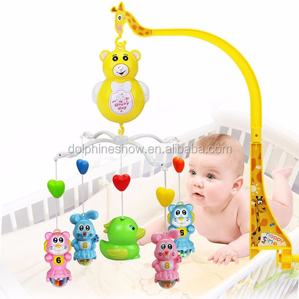0-12 Months Newborn Bed Bell Rattle Toys Mobile Baby Toys Cartoon Animal S