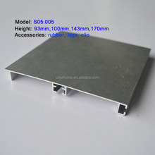 Aluminum kitchen plinth skirting