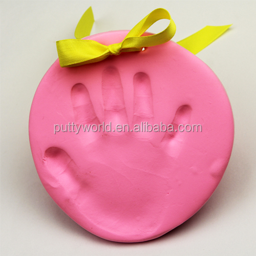High quality baby handprint and footprint clay in air dry for commemorate