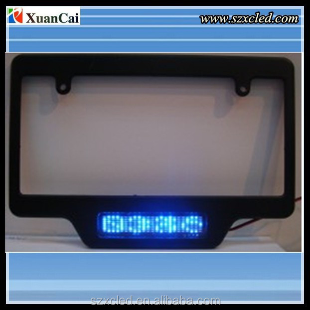 7*23 Pixel pitch,led license plate display/sign/screen
