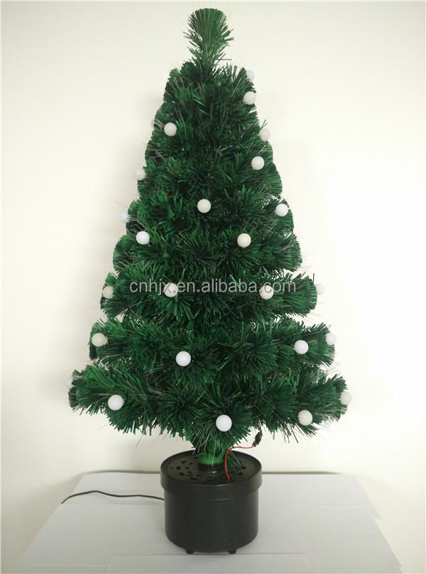 90 cm plastic bal veranderende led verlichting kerstboom multicolor pvc glasvezel kerstboom