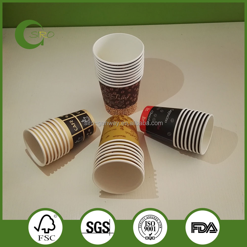 Environmental hot drink paper cups recycled paper cups