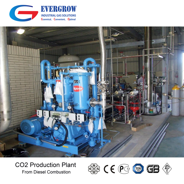 Automatic Multi-fuel CO2 production plant