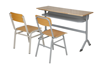 High Quality Top Board Double School Student Desk and Chair