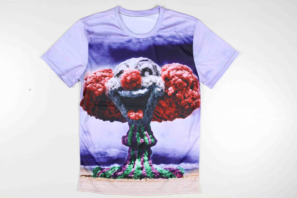 596bb6111 Get Quotations · 2015 novelty cotton mens 3d graphic tees print the bomb  blast short sleeve