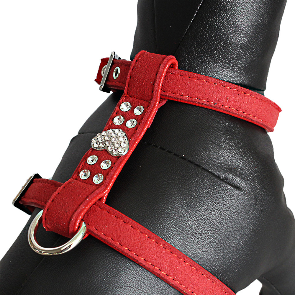Sparkling Rhinestone Heart pet harness