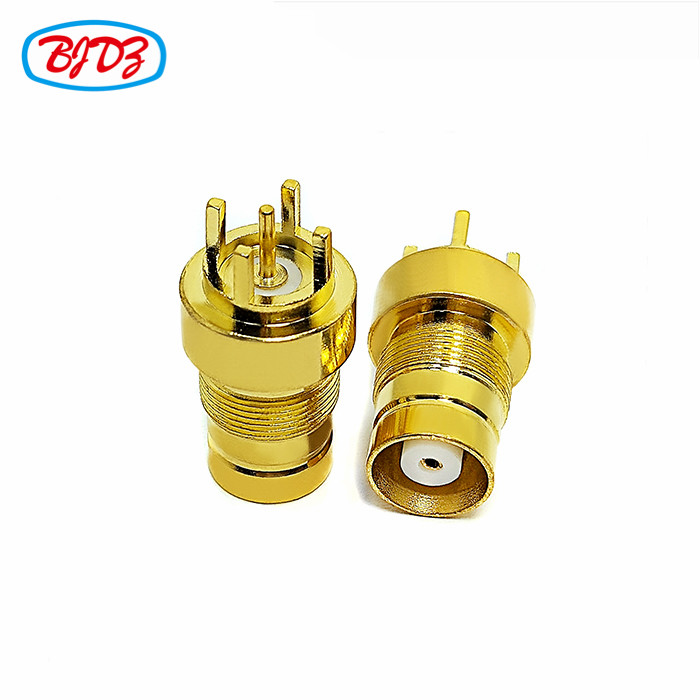 RF switch connector clamp type 1.6/5.6 L9  din rf coaxial connector straight male plug for cable BT3002