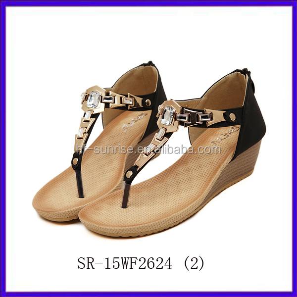 Sr-15wf2625(2) Fashion Pink Flat Sandals Women New Stylish Flip ...