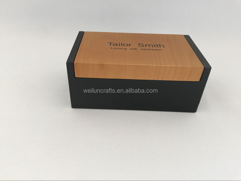 top sale Wood necktie Box with cufflink