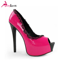Wholesale elegant peep toe pink low price ladies high heels platform sandals shoes women summer