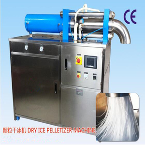 solid co2 pelletizer machine producing dry ice