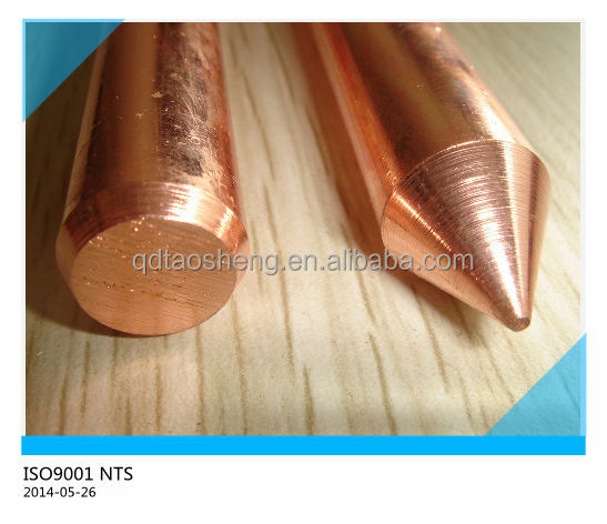 Copper Clad Weld Steel Ground Rod 1/2'' 5/8'' 3/4'' Earth Rod