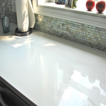 White Crystal Quartz Countertop And Sheet For Sale Standard