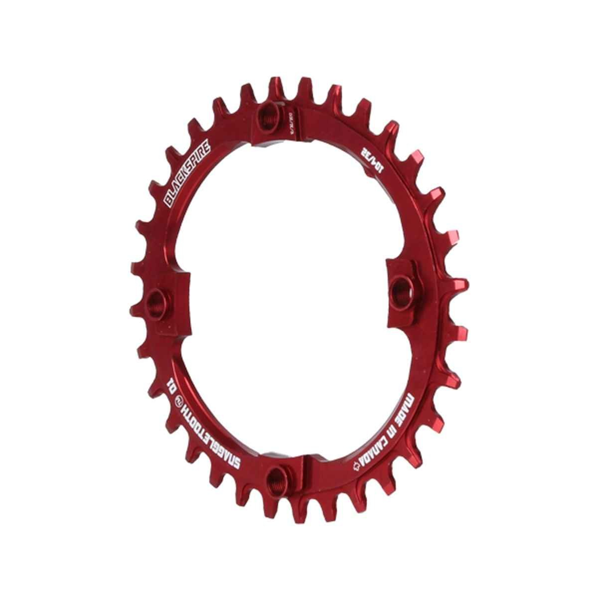 Blackspire Snaggletooth 104BCD Oval Nw Ring, 32T - Red - OV10432R