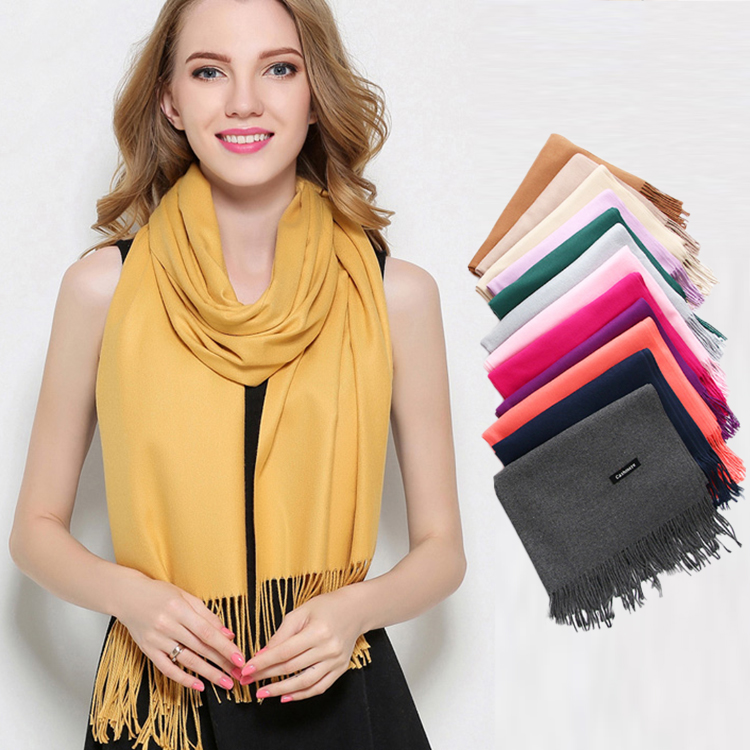 Hot Sale 2018 Winter New Pure Color Wool Scarf For Female And Couple Men And Women Warm All-matched Pure Color Scarf Shawl Reliable Performance Apparel Accessories