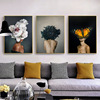 Classic Giclee Canvas Painting With Wooden-like Frame