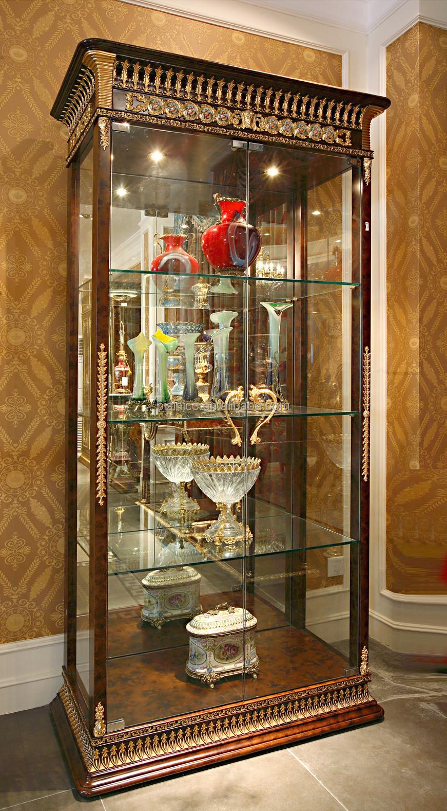 Di lusso barocco francese stile mogano porta singola vetrina con ...