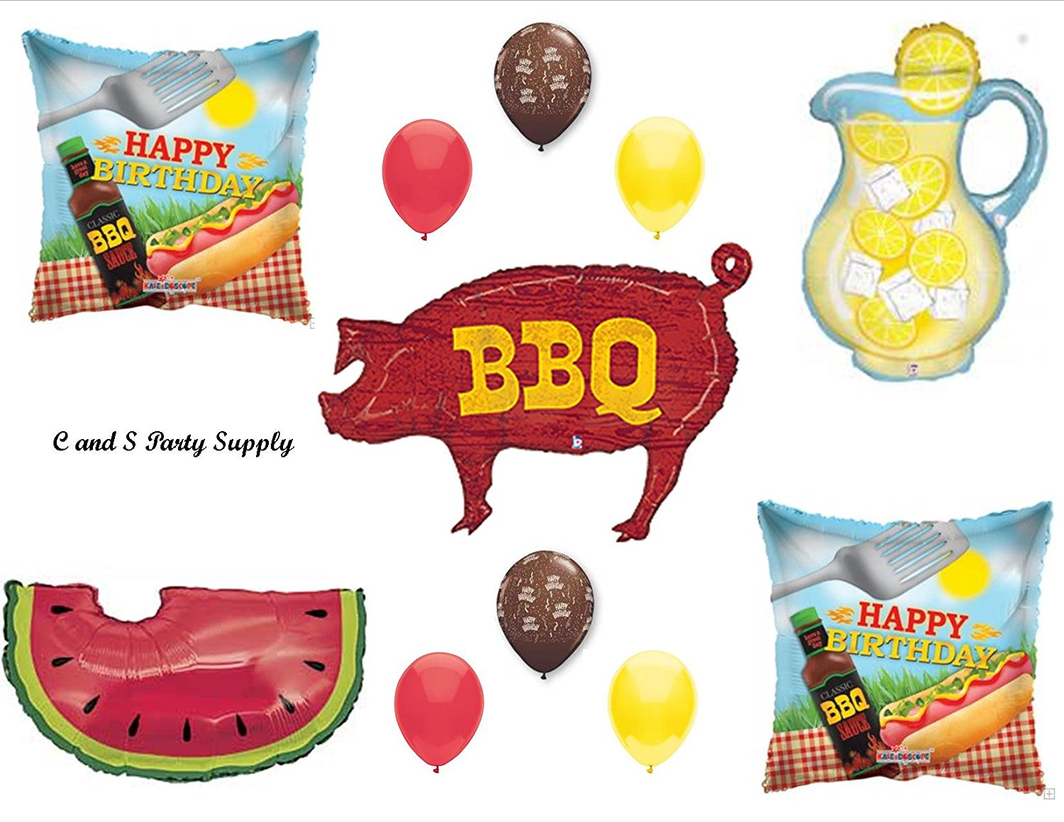 BBQ Cookout Birthday PARTY Balloons Decorations Supplies Lemonade Picnic Watermelon
