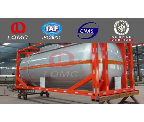 container frame tank mobile filling fuel station made by luqiang