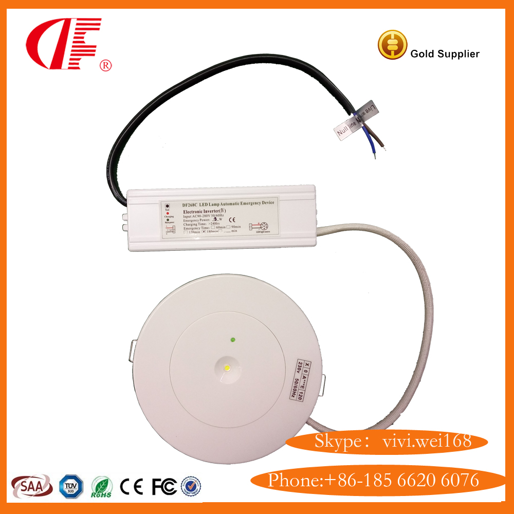 Fire Resistant Emergency Ufo Lightled Small Size Light Low Cost Automatic Ligh Led With Long Life Battery Backup