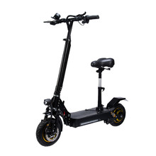 10 Inch Electric Scooter Off-road Straight Suspension Double Drive 60V / 21AH 1000W Brushless DC motor
