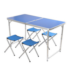 Outdoor portable folding table for picnic camping with aluminium alloy