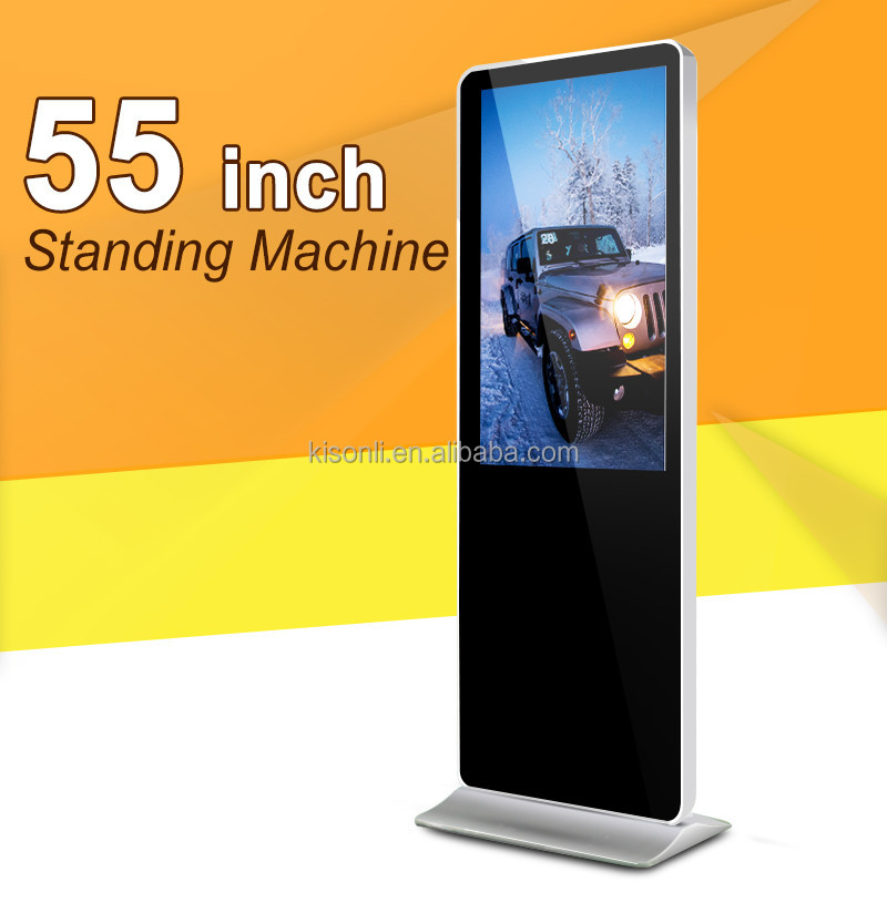 55 Inch Airport Floor Standing alone LCD Display Advertising