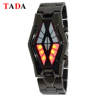 Tada Luxury Men Wrist Watches Unique Design Snake Rhombus Head Multi Color Led Light Electronic Sports Brand Digital Watch Mens