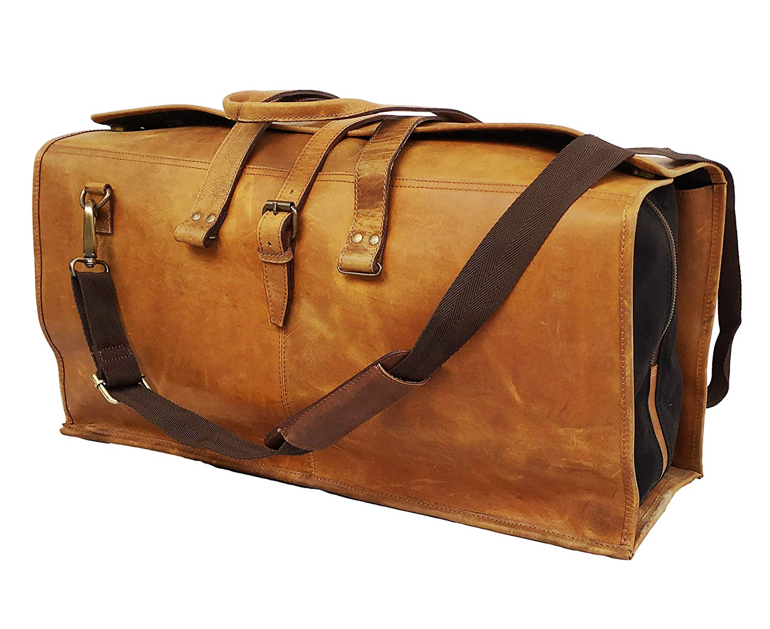 24 Inch Leather Duffel Bags Leather Luggage Canvas Bags Leather Travel Bags Leather Holdall Leather Canvas Bags