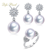 Latest Designs For Women Freshwater Pearl Jewelry Set 925 Sterling Silver Jewelry Wholesale