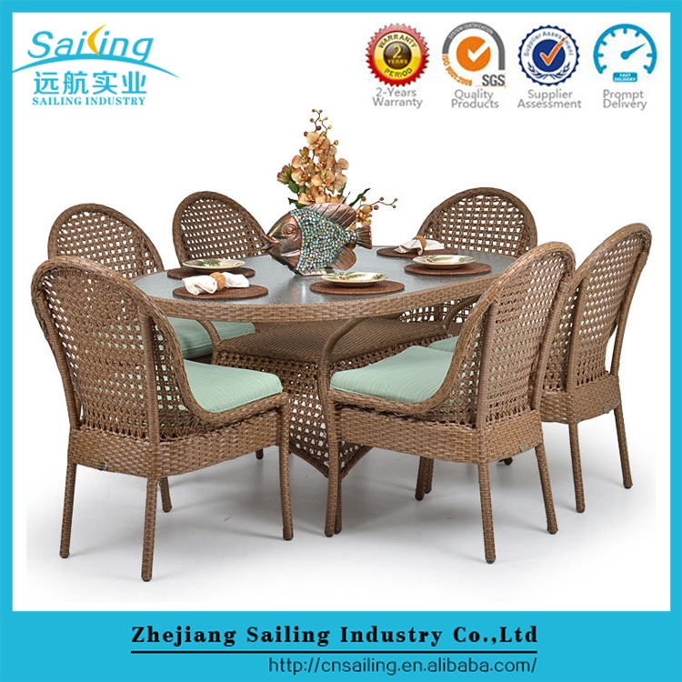 Fashion And Modern Lowest Price Marble Top Garden Table Wicker Chair