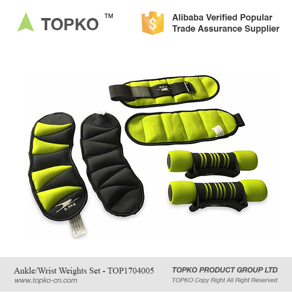 TOPKO Wholesale Adjustable Soft Neoprene Padding Comfort Fit Ankle/Wrist Cuff Weight Sets