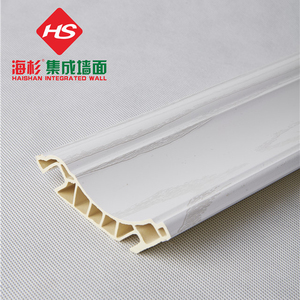 Extruded Marble color PVC corner border line to protect the wall