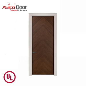 ASICO UL Listed Commercial Apartment Fire Rated Fire Proof Solid Wood Flush Interior Door With Certificate