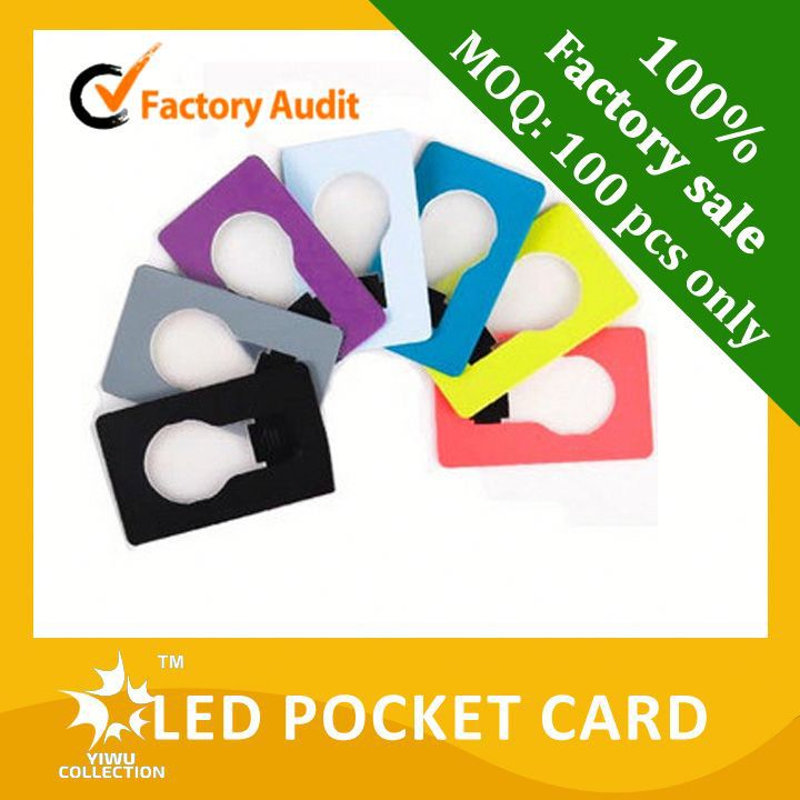 new design mini pocket led card light for sale colourful led lamp with led light