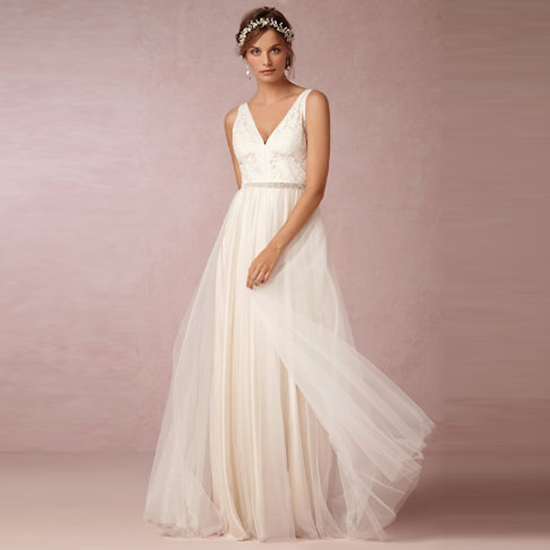 Low Waist Wedding Gowns: Aliexpress.com : Buy Custom Made V Neck A Line Tulle
