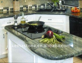 Charmant Tropical Green Granite Kitchen Countertops