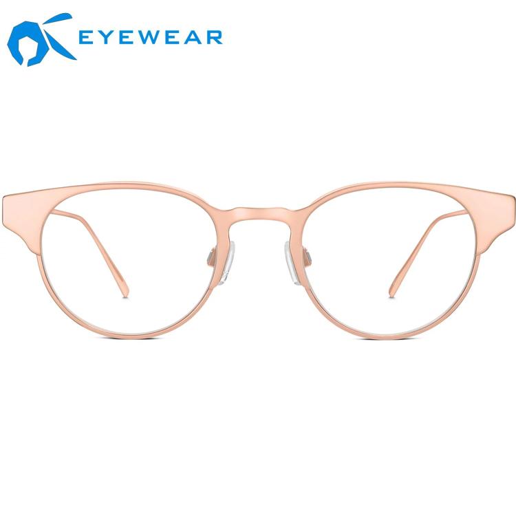 French 인기있는 design 처방 Eyewear 프레임 독일어 한국어 metal 안경 프레임 pink black 광 프레임