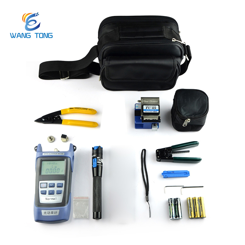 China manufacturer 9 in 1 fiber optic cleaver/visible fault locator/power meter Portable Tool Kit