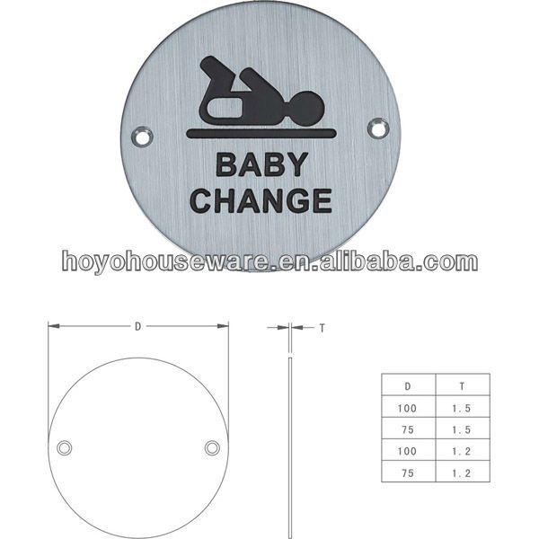 China Supplier Stainless Steel Baby Toilet Sign