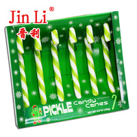 Mint Flavor and Hard Candy Type Green Candy Canes