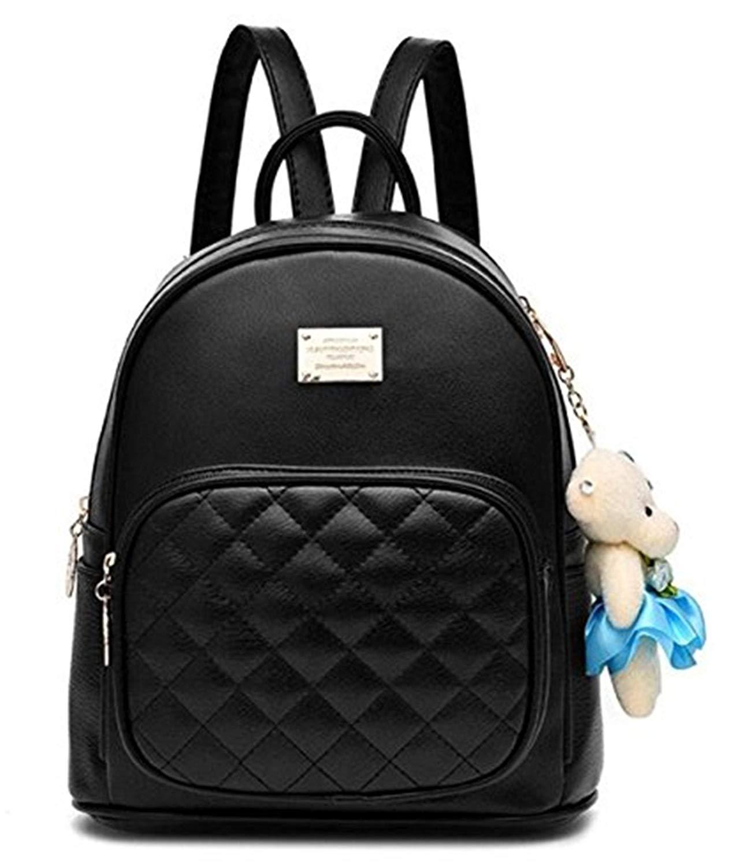 ce5914dd08c6 Buy BeautyWJY Women Leather Backpack Purse Satchel School Bags ...