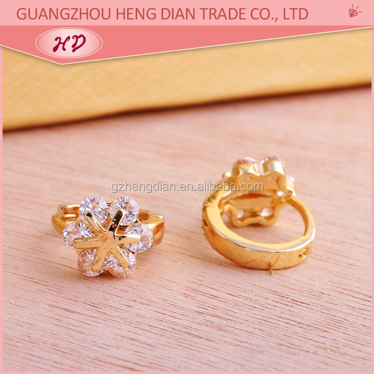 New 2016 Latest Designs Earring Jewelry,18K Gold Plated simple ...