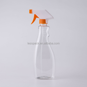 Made in China Liquid Detergent Bottle Orange Trigger Spray 500ml Toilet Cleaner Bottle