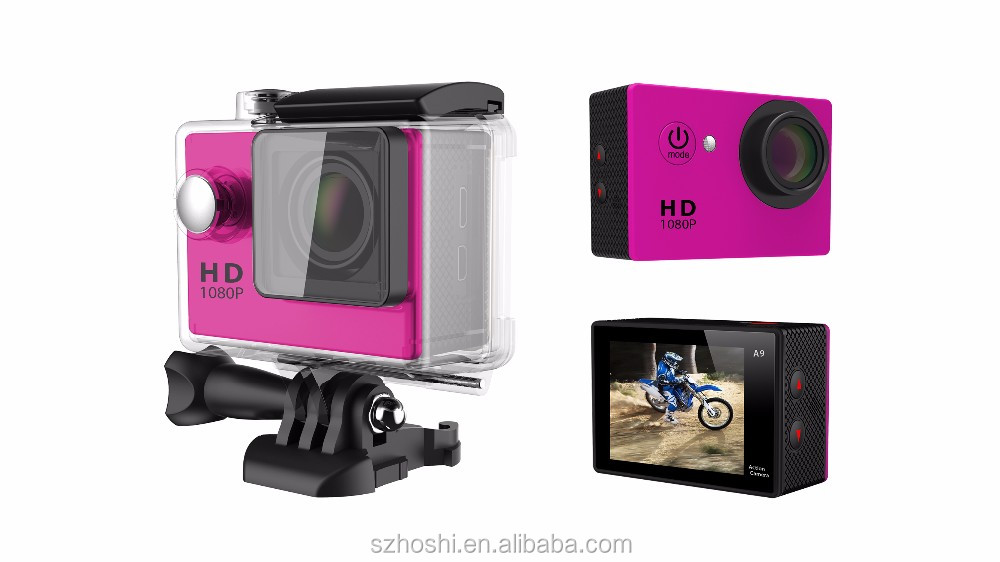 Action Camera A9 Waterproof Underwater 30 Diving 12MP Lens Sport Cam Mini 1080p Full HD Cameras hd 720p waterproof dv action cam