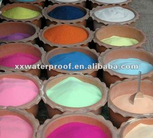 use of colored silica sand