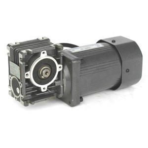 single phase 220V 90 degree worm gear ac geared motor
