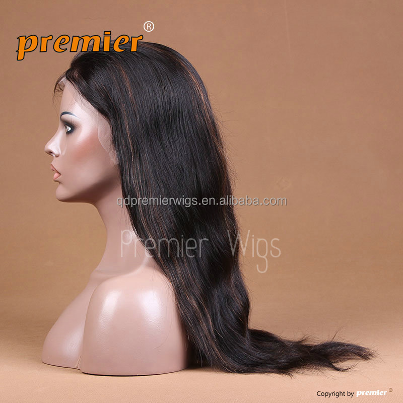 100% virgin human hair straight bob wig full lace wigs in natural color