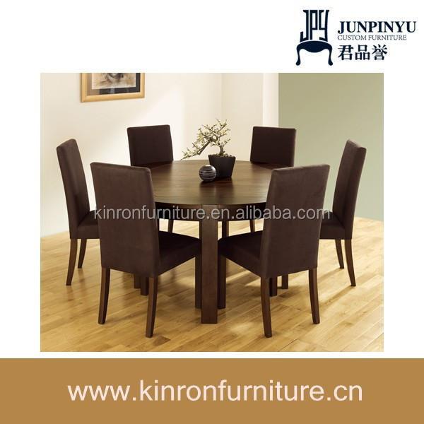 El último estilo moderno de madera maciza de mesa redonda de ...
