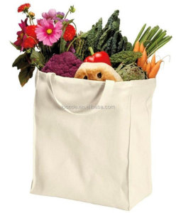 100% organic cotton canvas durable grocery tote bags